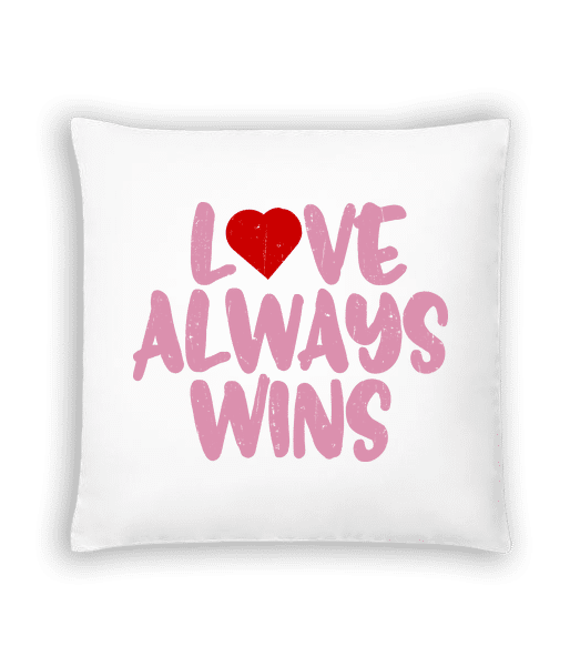 Love Always Wins - Cushion - White - Vorn