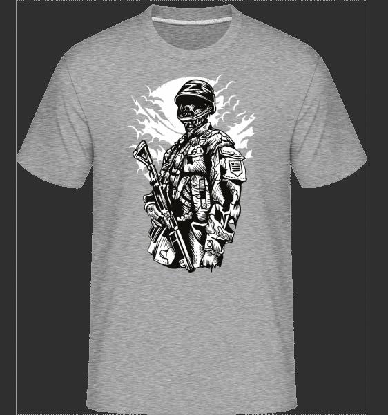 Zombie Soldier -  Shirtinator Men's T-Shirt - Heather grey - Vorn