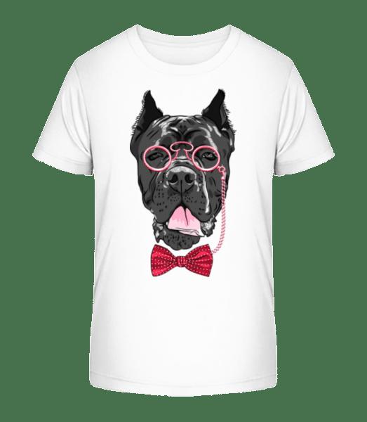 Dog With Glasses - Kid's Premium Bio T-Shirt - White - Vorn