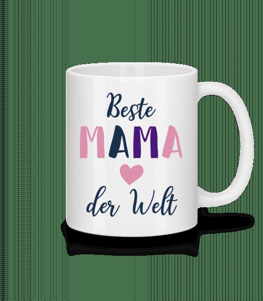 Beste Mama Der Welt - Tasse - Weiß - Vorn