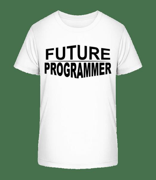 Future Programmer - Kid's Premium Bio T-Shirt - White - Vorn