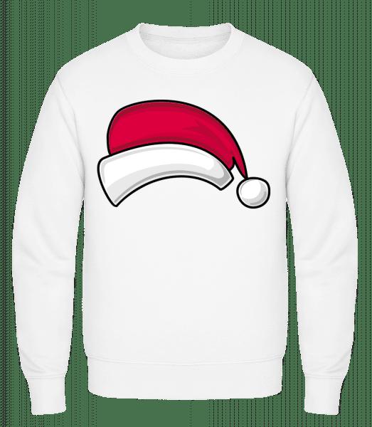 Santa Hat - Classic Set-In Sweatshirt - White - Vorn