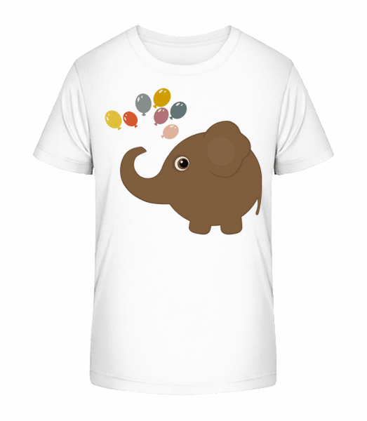 Kids Comic - Elephant - Kid's Premium Bio T-Shirt - White - Front