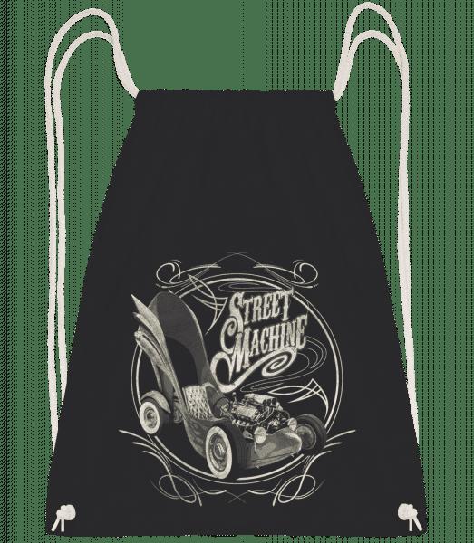 Street Machine - Drawstring Backpack - Black - Vorn