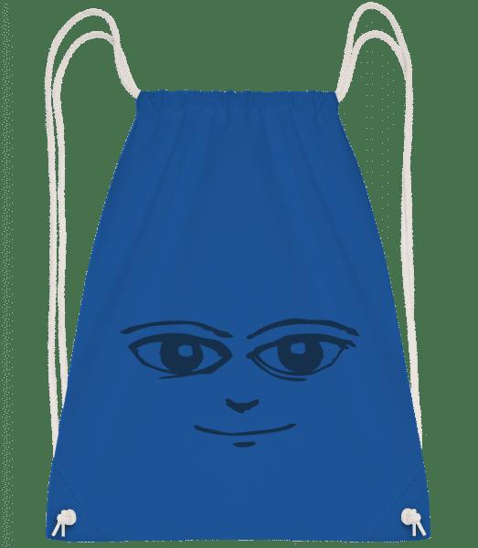 Face Symbol Blue - Drawstring Backpack - Royal blue - Vorn