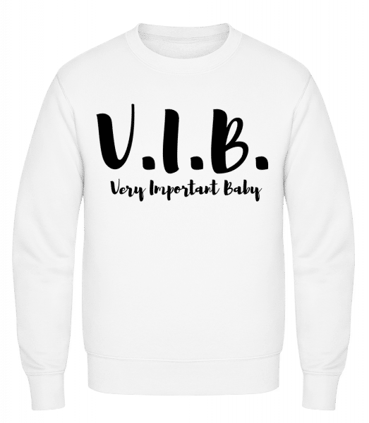 Very Important Baby - Classic Set-In Sweatshirt - White - Vorn