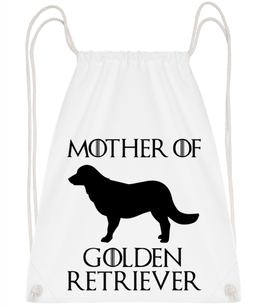 Mother Of Golden Retriever - Drawstring Backpack - White - Vorn