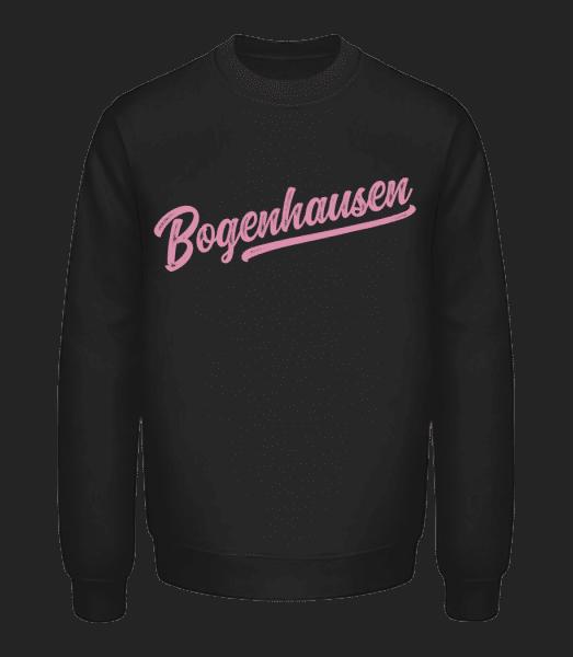 Bogenhausen Swoosh - Unisex Pullover - Schwarz - Vorn