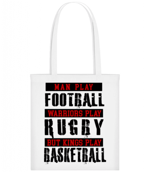 Kings Play Basketball - Tote Bag - White - Front