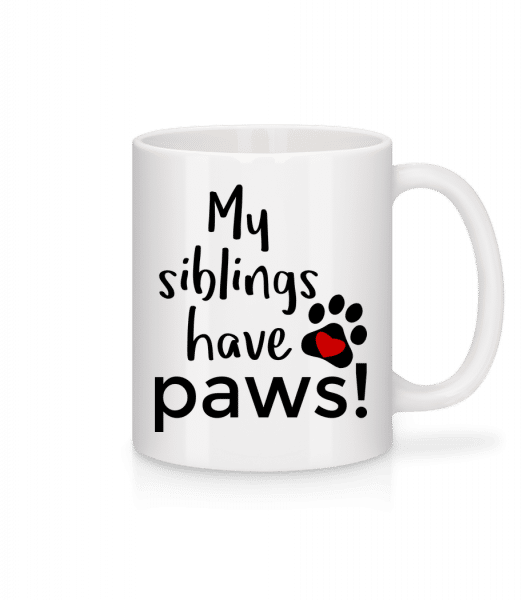 My Siblings Have Paws - Mug - White - Vorn