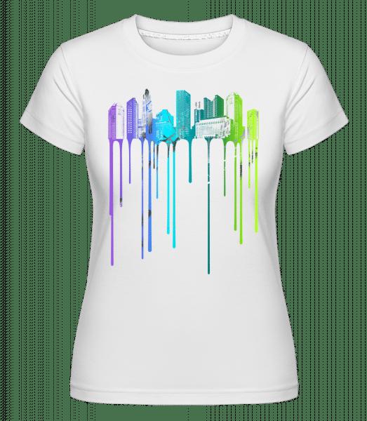 Graffiti Stadt - Shirtinator Frauen T-Shirt - Weiß - Vorn