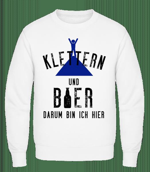 Klettern Und Bier - Männer Pullover - Weiß - Vorn