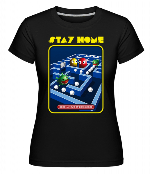 Stay Home -  Shirtinator Women's T-Shirt - Black - Vorn