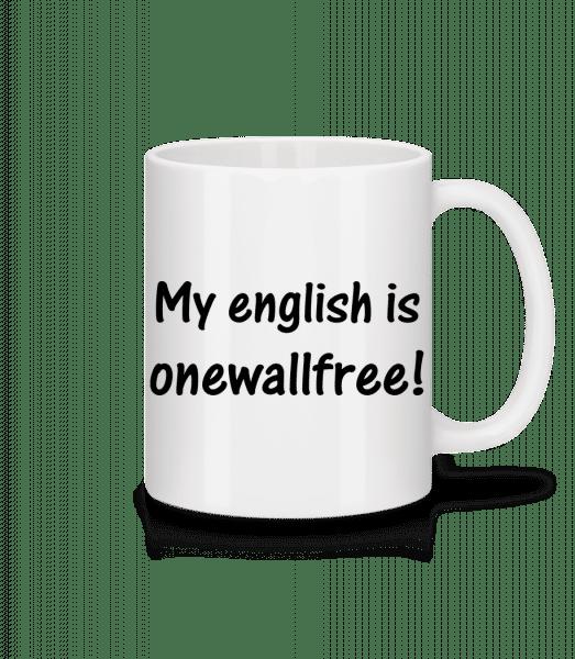 Onewallfree English - Tasse - Weiß - Vorn