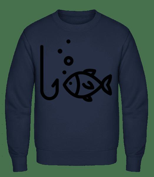 Fishing Comic - Classic Set-In Sweatshirt - Navy - Vorn