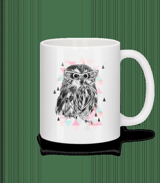 Hipster Owl - Mug - White - Vorn