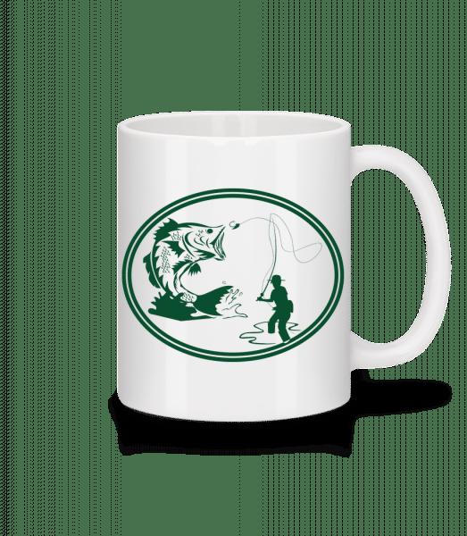 Fishing Icon Green - Mug - White - Vorn