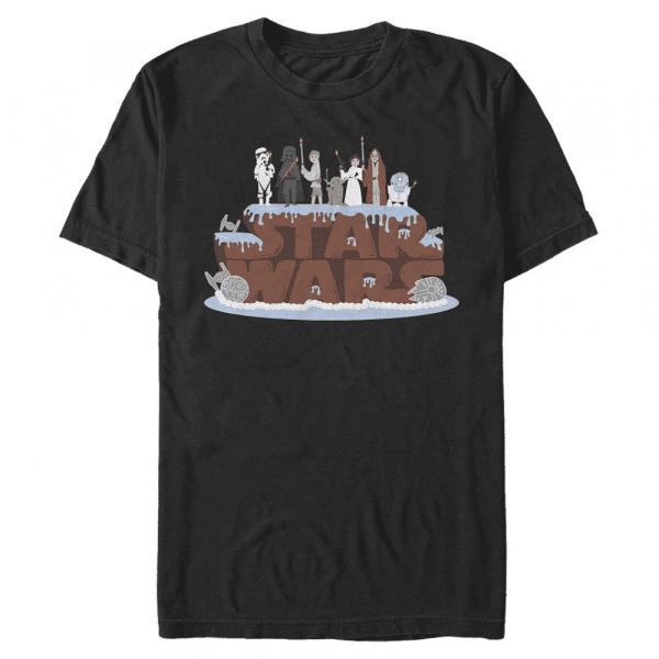 Birthday Cake Group Shot - Star Wars - Men's T-Shirt - Black - Front