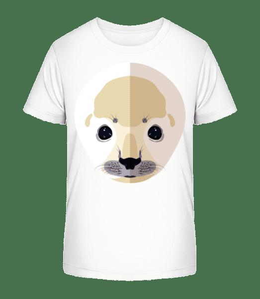 Phoque Comic Ombre - T-shirt bio Premium Enfant - Blanc - Devant