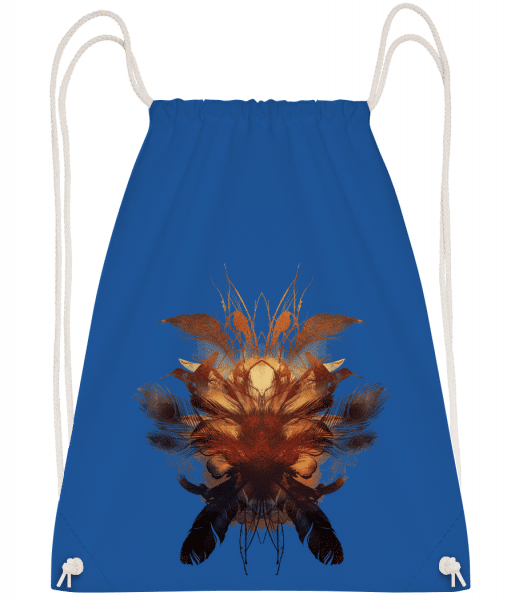 Feather Bird's Nest - Drawstring Backpack - Royal blue - Vorn