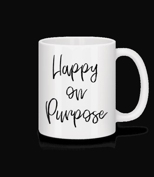 Happy On Purpose - Mug - White - Vorn