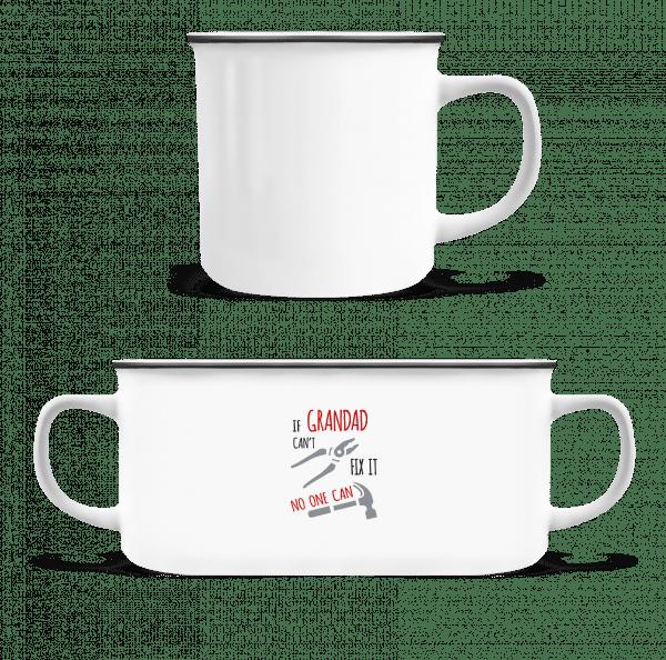 If Grandad Can't Fix It - Enamel-cup - White - Vorn