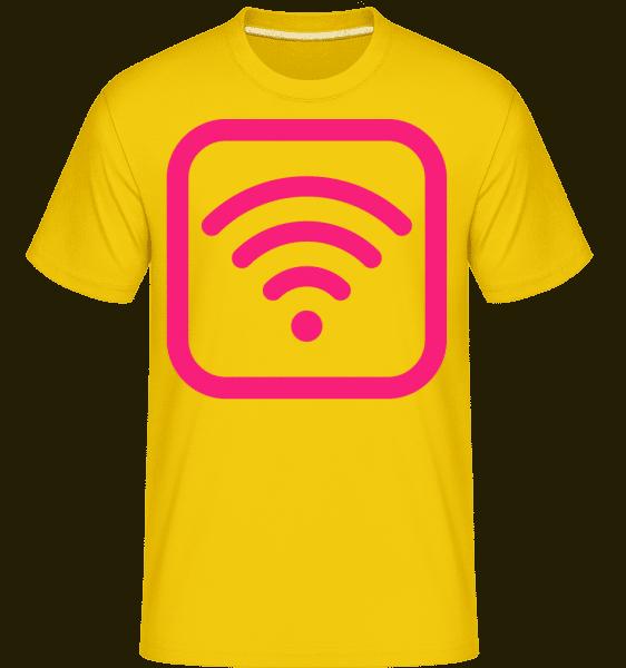 Wlan Icon Pink -  Shirtinator Men's T-Shirt - Golden yellow - Vorn