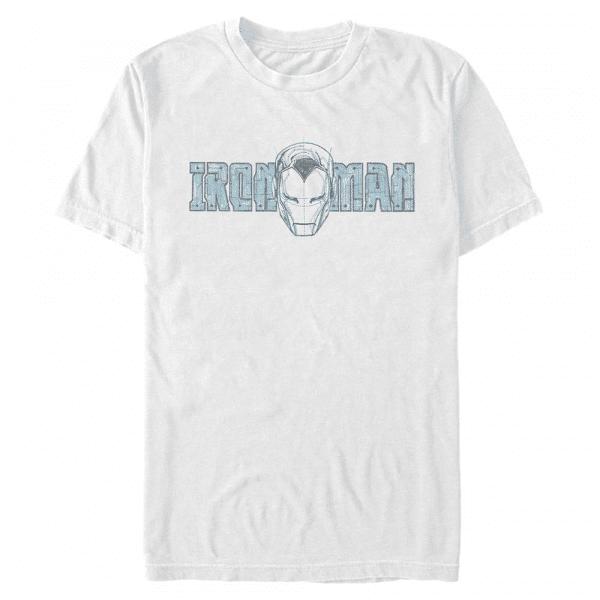Ironman Face Iron Man - Marvel - Men's T-Shirt - White - Front