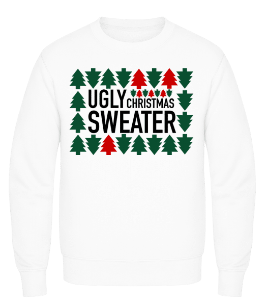 Ugly Christmas Sweater - Men's Sweatshirt AWDis - White - Front