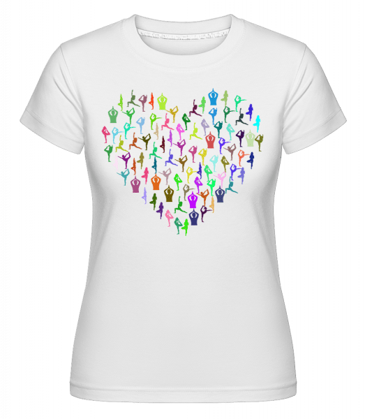 I love Yoga -  Shirtinator Women's T-Shirt - White - Vorn