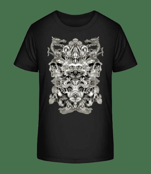 Dragons And Skulls - Kid's Premium Bio T-Shirt - Black - Vorn