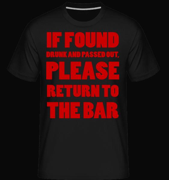 Please Return To The Bar -  Shirtinator Men's T-Shirt - Black - Front