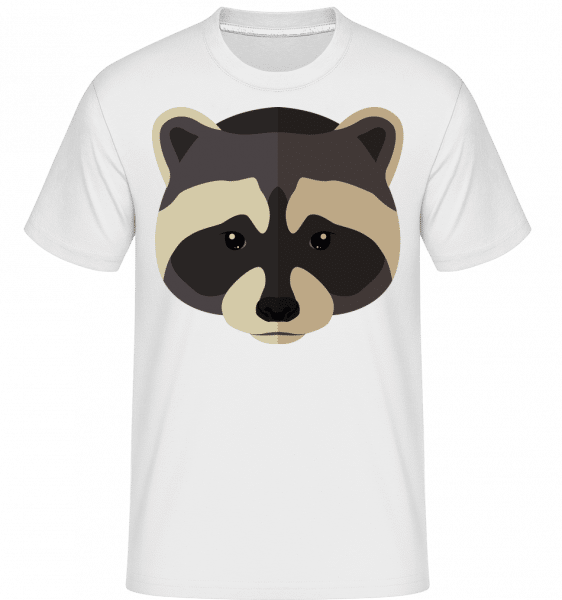 Racoon Comic Shadow -  Shirtinator Men's T-Shirt - White - Vorn