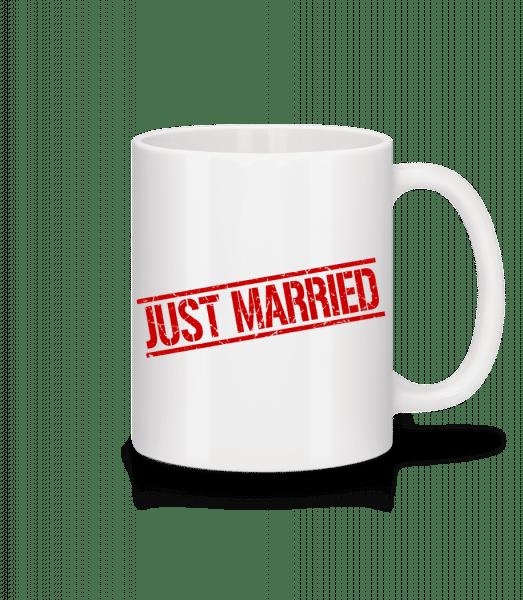 Just Married - Mug - White - Vorn