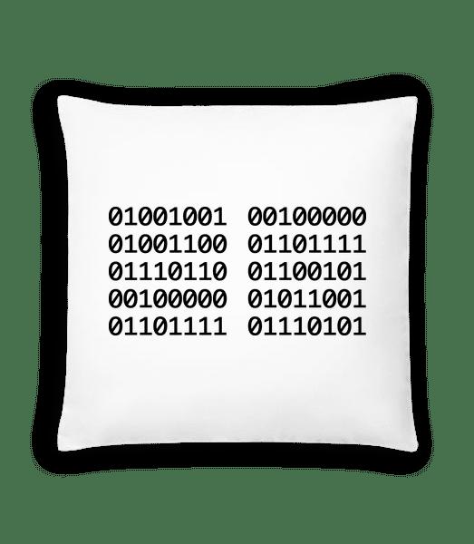 I Love You Code - Cushion - White - Vorn