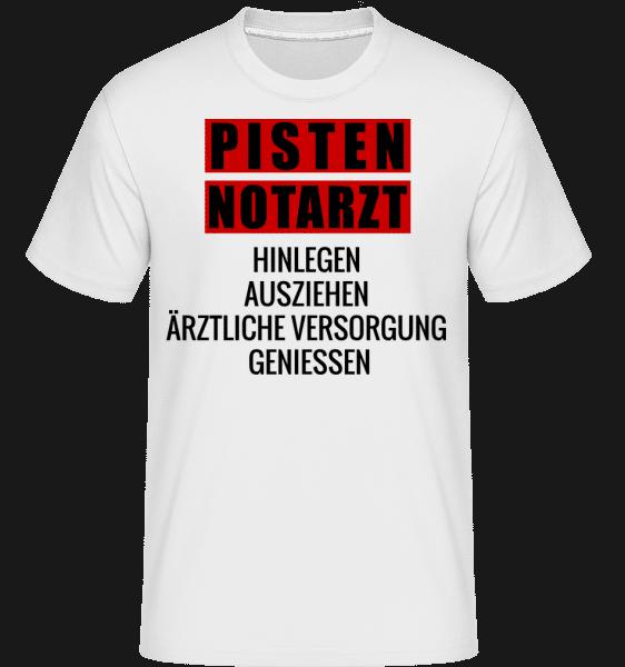Pisten Notarzt - Shirtinator Männer T-Shirt - Weiß - Vorn