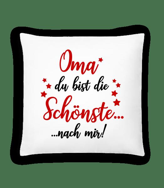 Oma - Die Schönste Nach Mir - Kissen - Weiß - Vorn