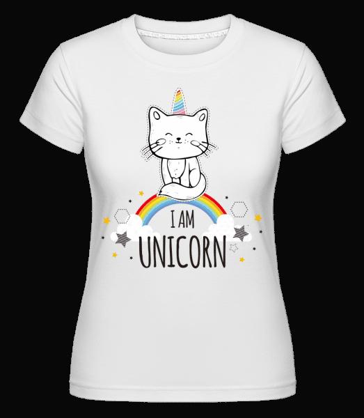 I Am Unicorn -  T-shirt Shirtinator femme - Blanc - Devant