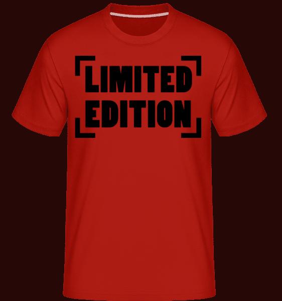 Limited Edition Logo - Shirtinator Männer T-Shirt - Rot - Vorn