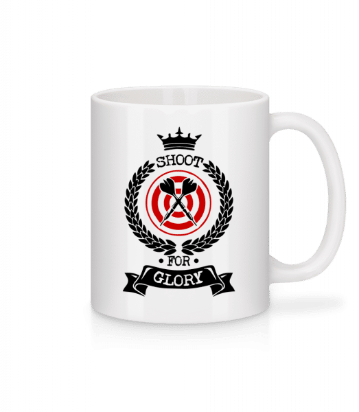 Darts Shoot For Glory - Mug - White - Vorn