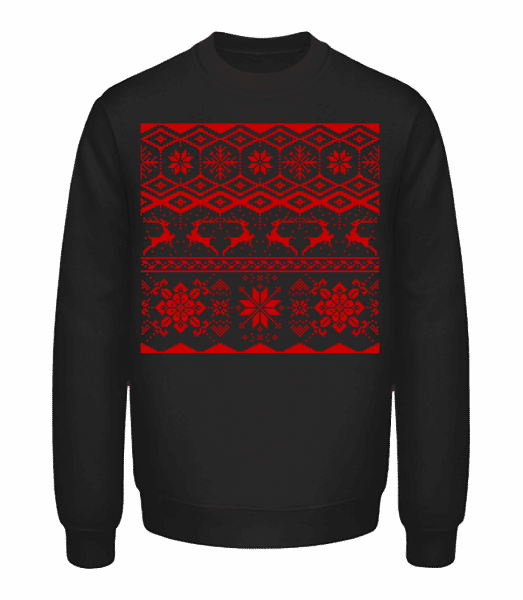 Christmas Pattern - Unisex Sweatshirt - Black - Vorn