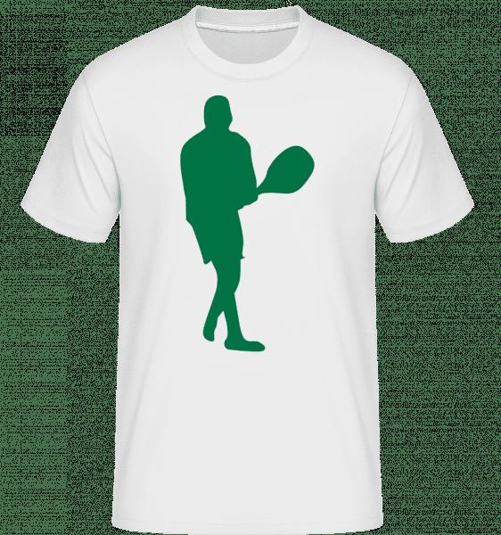 Table Tennis Player -  Shirtinator Men's T-Shirt - White - Vorn