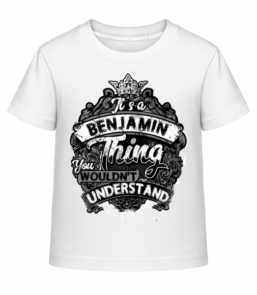 It's A Benjamin Thing - Kid's Shirtinator T-Shirt - White - Vorn