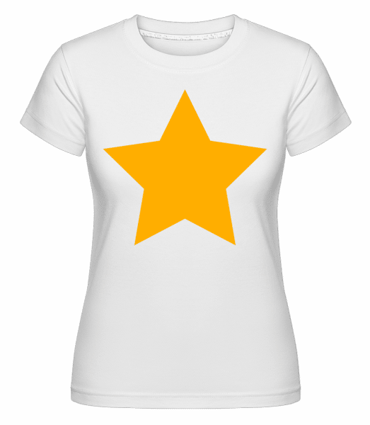 Star Icon Yellow -  Shirtinator Women's T-Shirt - White - Vorn