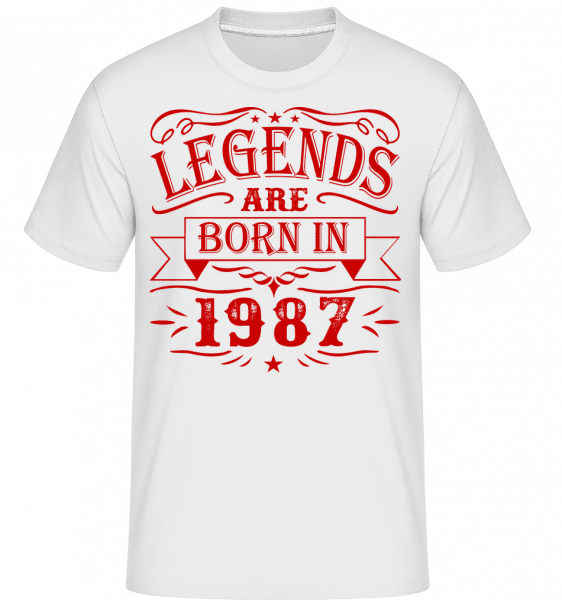 Legends Are Born In 1987 - Shirtinator Männer T-Shirt - Weiß - Vorn