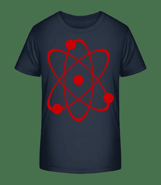 Symbol Of An Atom - Detské Premium Bio tričko - Namořnická modrá - Napřed
