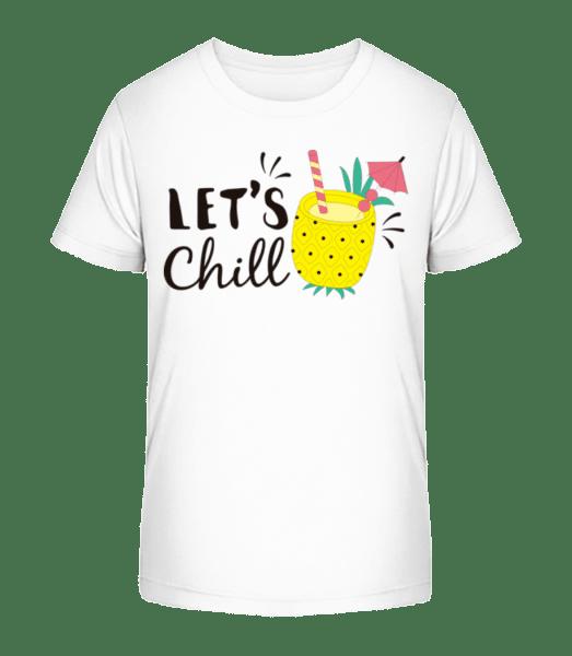 Let´s Chill - Kid's Premium Bio T-Shirt - White - Vorn