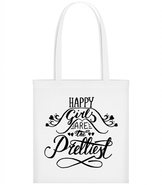 Happy Girls Are The Prettiest - Carrier Bag - White - Vorn