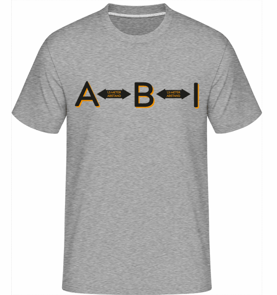 ABI 15 meters distance -  Shirtinator Men's T-Shirt - Heather grey - Front
