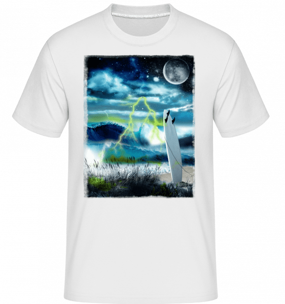 Beach In Space -  Shirtinator Men's T-Shirt - White - Vorn